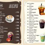 MENU QUÁN CAFE HƯỚNG DẪN CÁCH LÀM, MẪU THIẾT KẾ